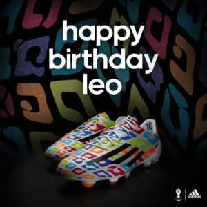 adizeroTM f50 Messi birthday boots