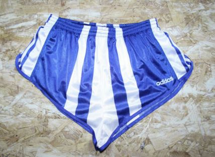 blue white striped vintage adidas shorts