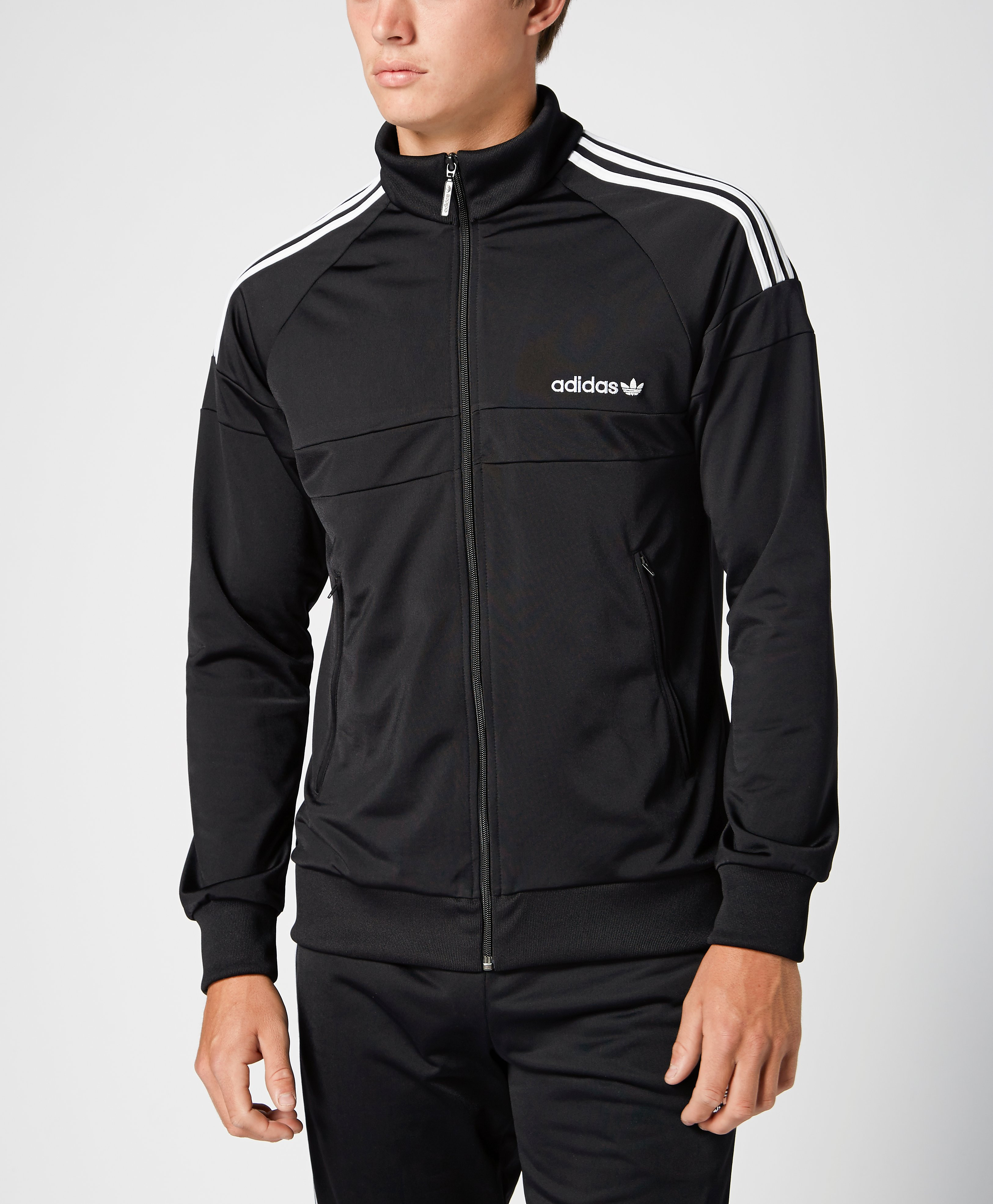 adidas originals itasca track top black black vintage. Black Bedroom Furniture Sets. Home Design Ideas