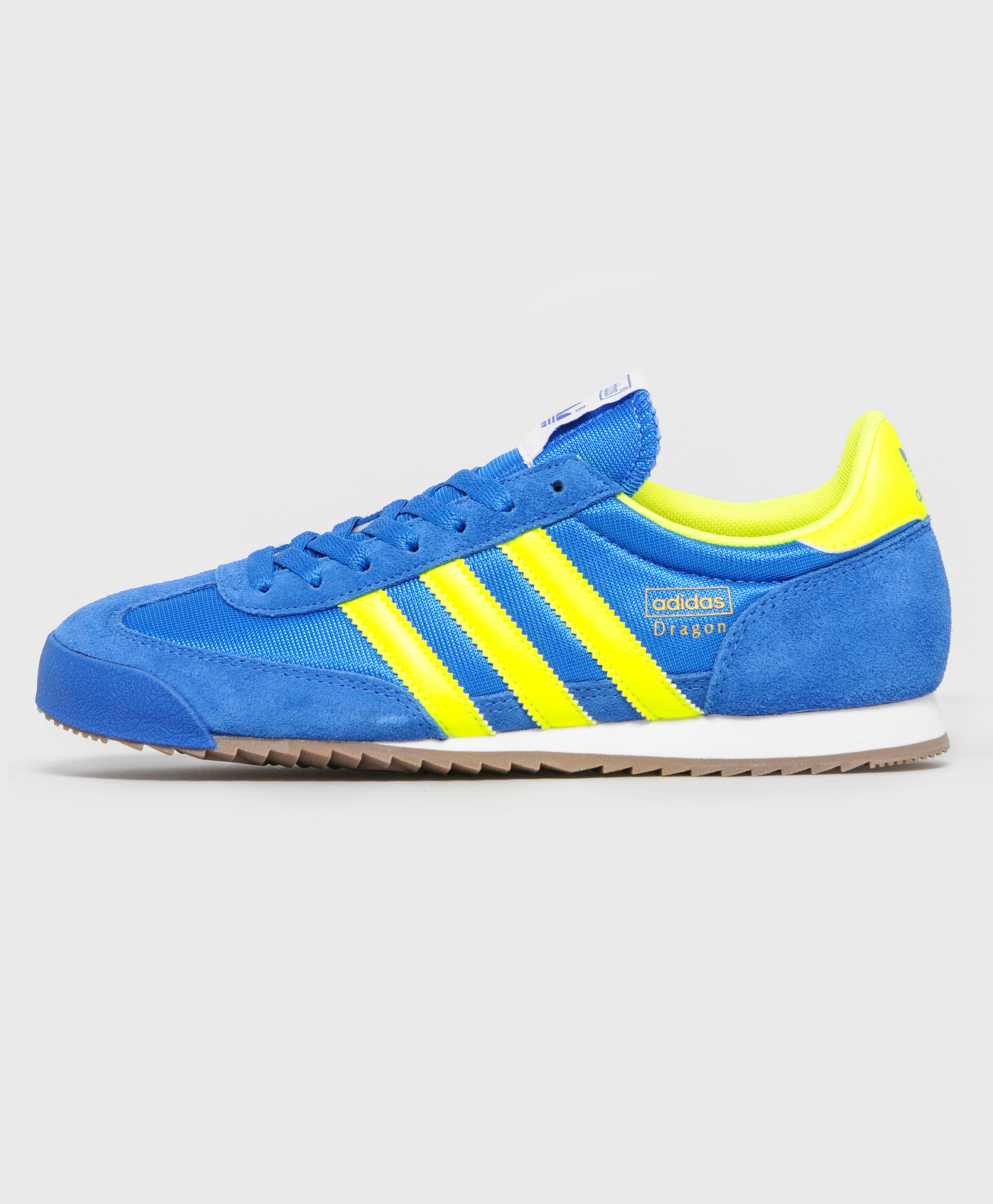 adidas dragon trainers blue and yellow