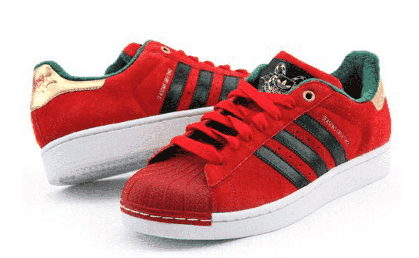 adidas superstar christmas red
