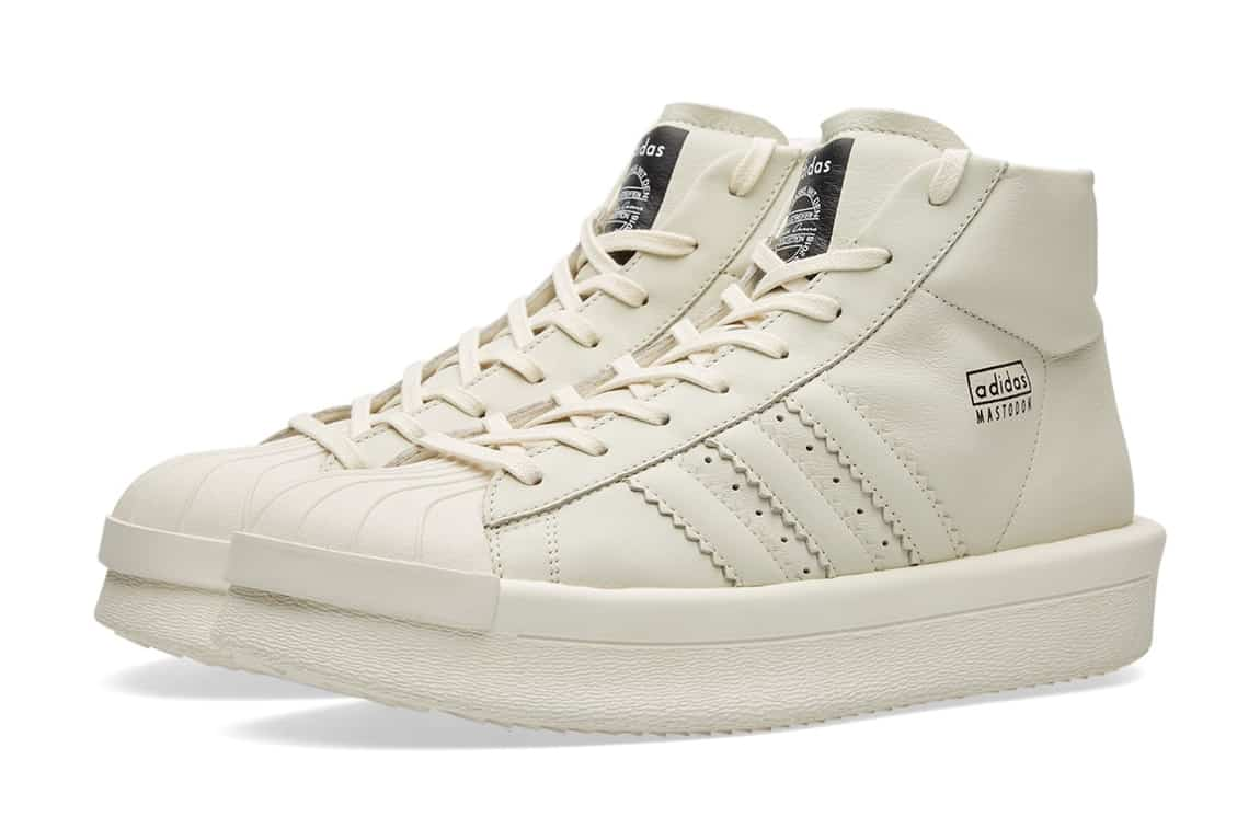 adidas Mastodon by Rick Owens If you noticed the Rick Owens Superstar boot above then you probably won't be surprised to see this follow up release by Rick Owens. The main feature of these boots is without doubt the chunky midsoles.