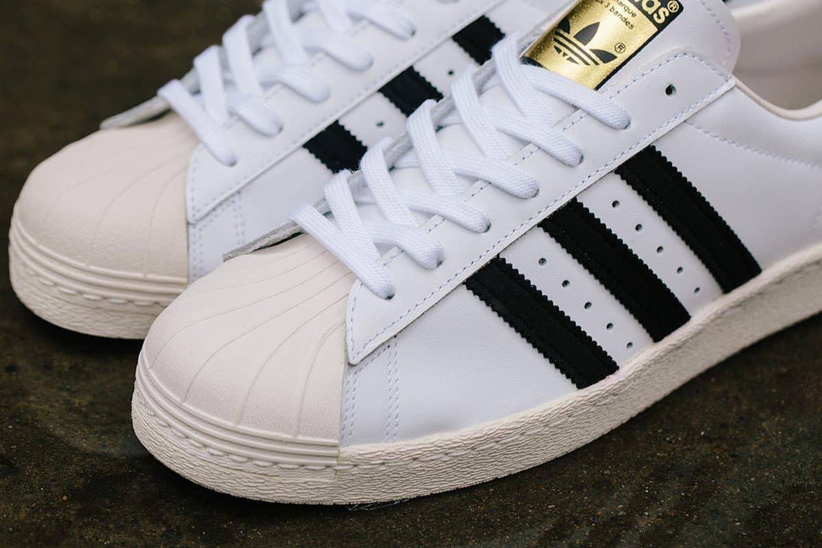 adidas Originals Superstar II Triple White Street Sneakers