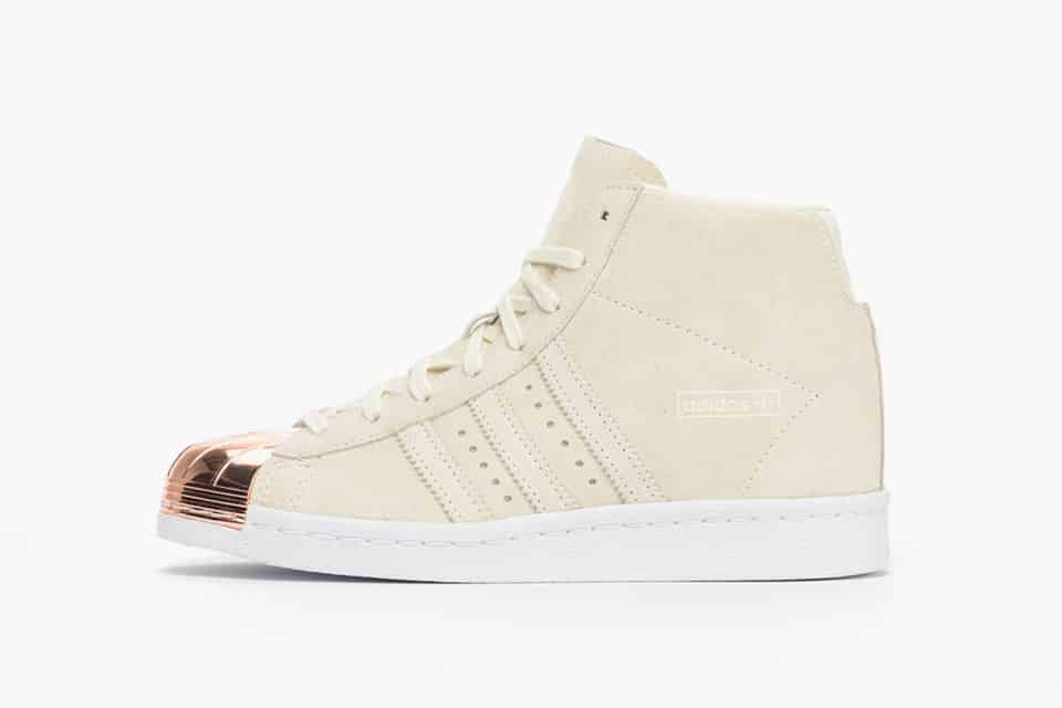 adidas superstar metal toe rose gold